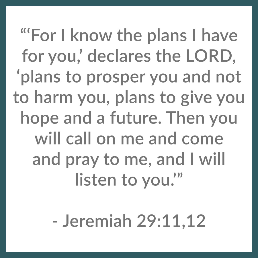 Jeremiah chapter 29 verses 11 through 12