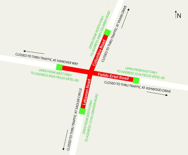 Map of Road Closure